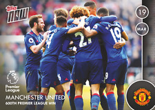 TOPPS NOW! 74 Premier League 2016/2017 MANCHESTER UNITED 600TH WIN - MAN UTD