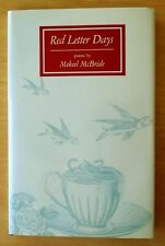 Red Letter Days by Mekeel McBride SIGNED 1988 HC DJ First Edition POETRY Poems