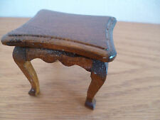 "Doll House  Rectangular  Wooden Table   1 5/8"" x 2 1/8""   H  1 7/8"""