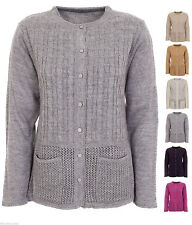 Crew Neck Button Jumpers & Cardigans Plus Size for Women