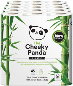 The Cheeky Panda Ultra Sustainable Hypoallergenic 100% Bamboo Toilet Roll Pack