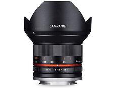 Samyang 12mm F/2.0 NCS CS MF Lens (Silver)  For Sony-E (Brand New)