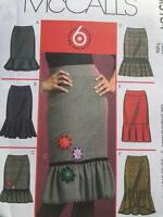 McCalls Sewing Pattern 5184 Misses Straight Skirt Four Lengths Size 4-12 UC