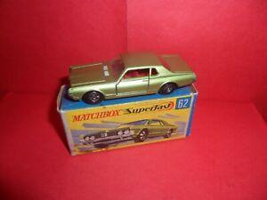 Matchbox Superfast #62-Mercury Cougar, Nr Mint In Good Original Box,1970/71.