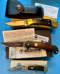 Buck Ranger 112, Böker Scout D2, Friedrich Hartkopf Taschenmesser Konvolut