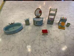 Petite Princess Patti Vintage Doll House Furniture Bathroom Set Ideal 1965