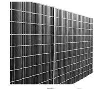 & neu.haus 35m Privacy Protection Fence Film PVC Wind double Rod Black 21'6