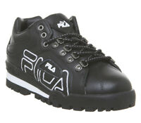 Womens Fila Trail Blazer Trainers Black Black White F Trainers Shoes