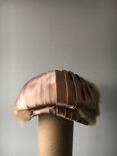 Elegant Real Mink Vintage Fur Hat