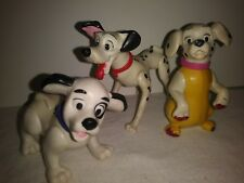 Rare Disney 101 Dalmations Dogs PVC Toys (Lot Of 3 ) Pongo Pups