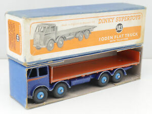Dinky Toys 503 Foden Flat Truck Tailboard Rare Original Box Boxed 1609-05-17
