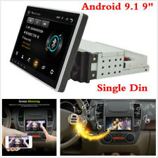 "Touch Screen 9"" 1 Din Android 9.1 Car Stereo Radio GPS SAT NAV WiFi Mirror Link"