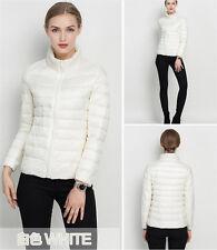 Women's Lady Girl Duck Down Feather Ultralight Jacket Padded Coat Warm Winter