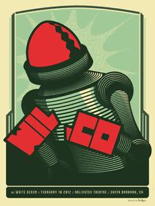 "WILCO ""Arlington Theatre ~ Santa Barbara"" Original 2012 Numbered Concert Poster"