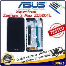 TOUCH SCREEN DISPLAY con FRAME NERO LCD x ASUS ZENFONE 3 MAX ZC520TL 5,2 X008D