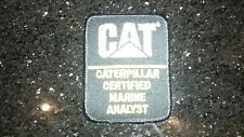 caterpillar certified marine analyst patch-original cat