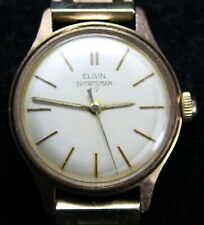Elgin Sportsman 878 17j 39mm Mens Watch - Vintage - Running