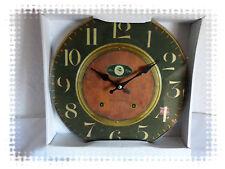 Pendule Horloge Murale en Verre  Rétro à Aiguilles
