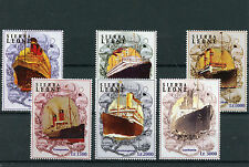 Sierra Leone 2004 MNH Ocean Liners 6v Set Boats Ships Lusitania Campania Stamps