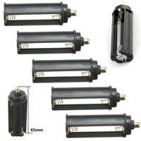 3/5x Cylindrical Battery Flashlight Torch 3 AAA 18650 Adapter Holder Cover Case