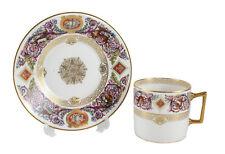 Sevres Paris Porcelain Louis Philippe Chateau de Fontainebleau Cup & Saucer 1846