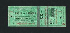 VERY RARE 1952 CHAMPIONSHIP SUGAR RAY ROBINSON vs JOEY MAXIM FULL boxing ticket