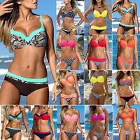 Two Piece Ladies Push Up Padded Swimwear Bikini Set Swimsuit Bathing Suit Beach