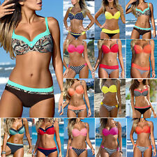 Two Piece Womens Beach Push-up Padded Bikini Set Swimsuit Swimwear Bathing Suit