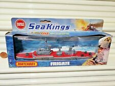 Lesney Matchbox 1975 SEA KINGS K-301 F109 FRIGATE SHIP RED Deck Mint Bxd No Tab*