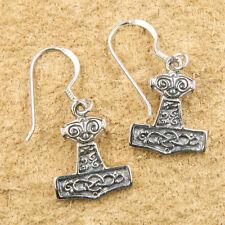 Tiefpreisgarantie Keltische Thorhammer Odin Ohrringe 925 S. Silber Ohrhänger