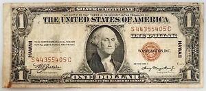 1935 A $1 Hawaii Overprint Silver Certificate! Fr. #2300.