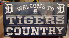 """DETROIT TIGERS WELCOME TO TIGERS COUNTRY WOOD SIGN 13""""X24'' BRAND NEW WINCRAFT"""