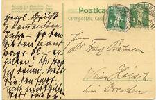 """CH """"BELLINZONA - LETTERE"""" grosser K2 1911 a. 5 (C.) grün Tellknabe GA-Postkarte"""