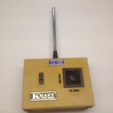 "Rare Vintage Kraft Sport Series Single Stick RC Transmitter 5.75"" X 4.25"" Case."