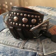 DSQUARED2 Icon Brow studded Belt ($635.00+TAX) ❤  belt SOLD OUT!! Sz S