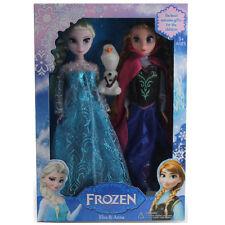 "3Pcs Birthday Gift Playset Frozen Princess Elsa&Anna 12"" 30Cm Doll Figures toy@"
