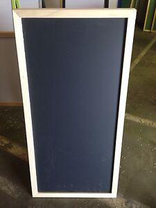 "Sidewalk Display Black Chalkboard Natural Hardwood Frame 24"" X 48"""