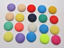 50 Mixed Color Flatback Fabric Covered Buttons Round 12mm Cabochon for DIY