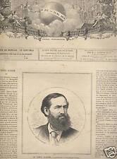 PRESSE ILLUSTREE 1874  N 343  LA PRIERE DU MUEZZIN TURC