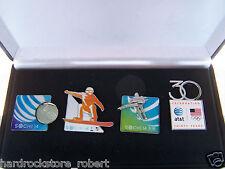 2014 at&t USA Sotschi Olympiade Sponsor (4) Pin Set/Skater/Snowboard/Spinner/Anny