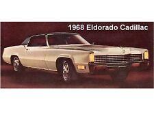 1968 Eldorado Cadillac Auto Refrigerator Magnet