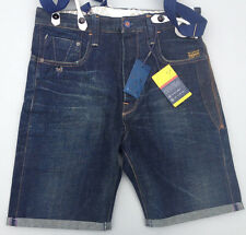 NEW - RRP $379 - Mens Selvedge G-Star Raw 'HANK SOHO LOOSE' 3D RAW Shorts