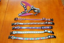 Lot of Small size Dog Collars Harness MazzyCo Paw Paws Terrain Dog
