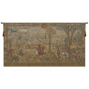 Medieval Brussels Belgian Tapestry Wall Hanging