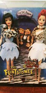 Flintstones Barbie Doll Wilma Betty Cactus Room Silver Label Collector Mattel
