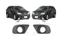 FOR DODGE JOURNEY 11-16 NEW FRONT BUMPER FOGLIGHT GRILLE ONLY FOR 3.6L PAIR SET