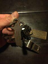 Alcatraz Prison Key Set Whistle Chain Jailer Lot Vintage Style Patina Rust NR