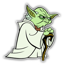 Star Wars Yoda Angry Cartoon Car Bumper Sticker Decal 5'' x 5''