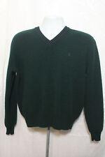 Polo Ralph Lauren Green V Neck Long Sleeve Sweater Size Medium Wool