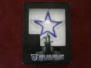 DALLAS COWBOYS STAR LOGO DESK TOP NEON LIGHT LAMP SIGN